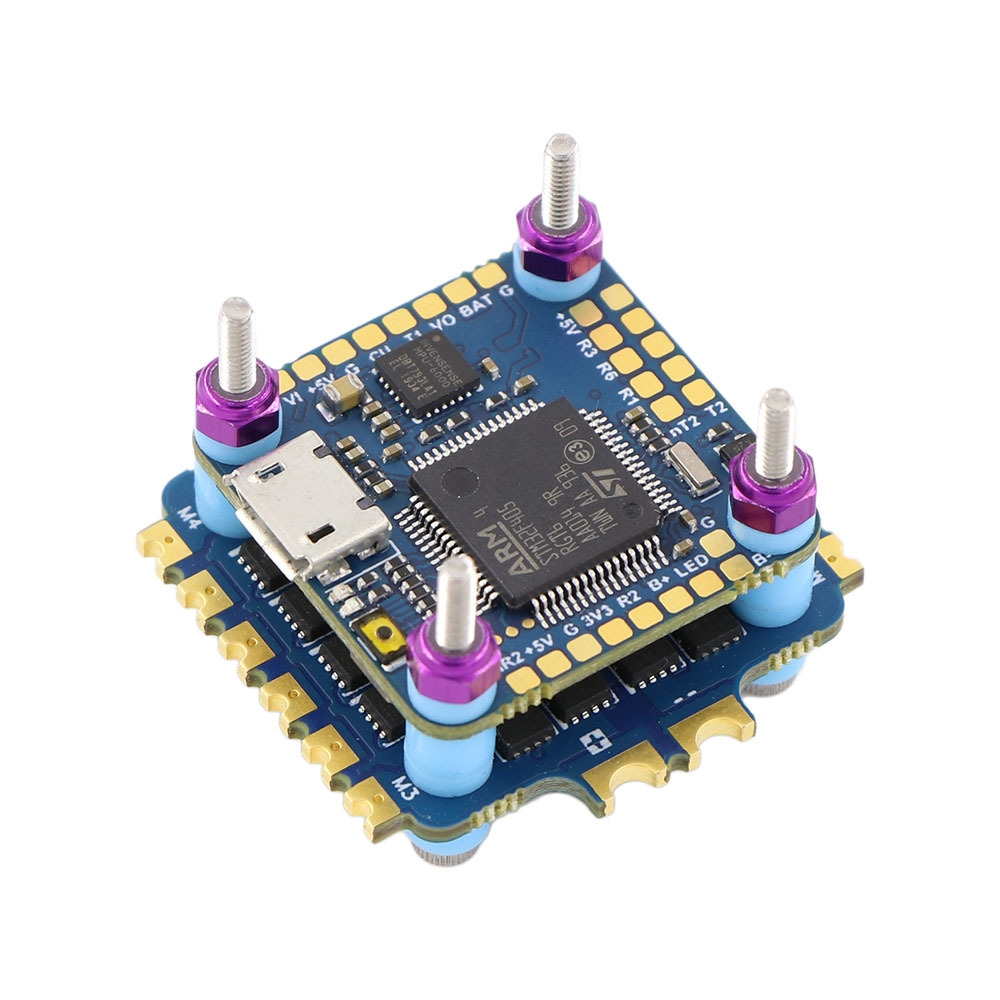 20x20mm XF20-F405 F4 OSD Flight Controller w/ Current Sensor & 35A BL_S 2-4S 4in1 ESC Stack for RC Drone