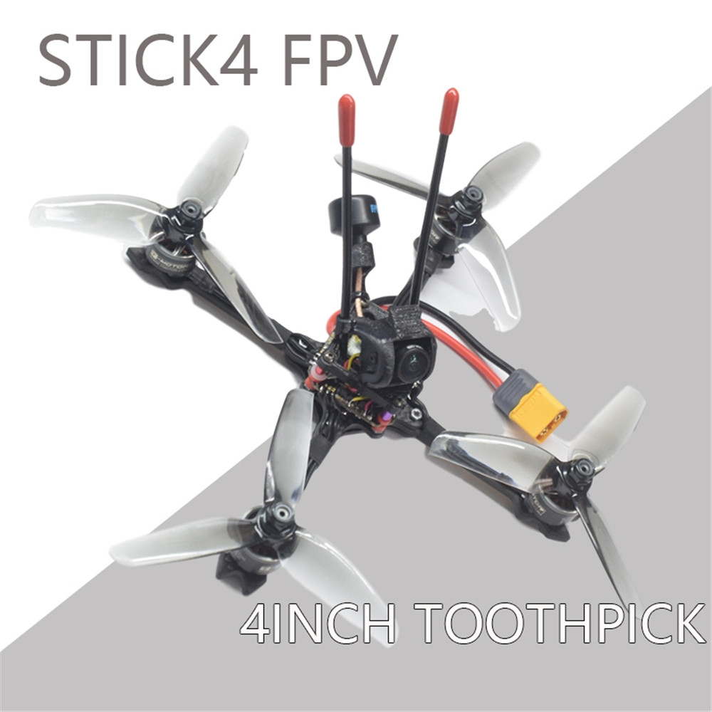 AuroraRC STICK4 4S 4Inch FPV ToothPick RC Drone PNP BNF with Caddx Turbo EOS2 Camera 1507 Motor F411 AIO FC 30A ESC