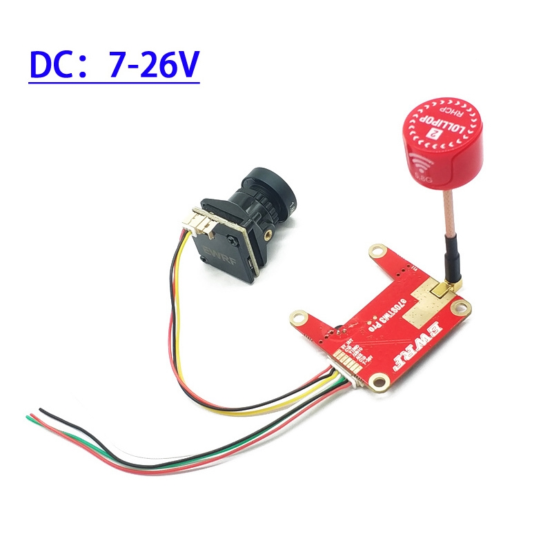 E709TM3Pro 5.8G 25/200/500/800mW Switchable FPV Transmitter and 1200TVL HD Night Vision Camera Transmitter Combo
