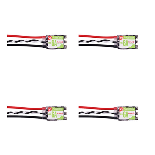 4 PCS Racerstar RS6A V2 BB2 Blheli_S 6A 1-2S Brushless ESC 18*11mm Support Oneshot42 16.5 Dshot600
