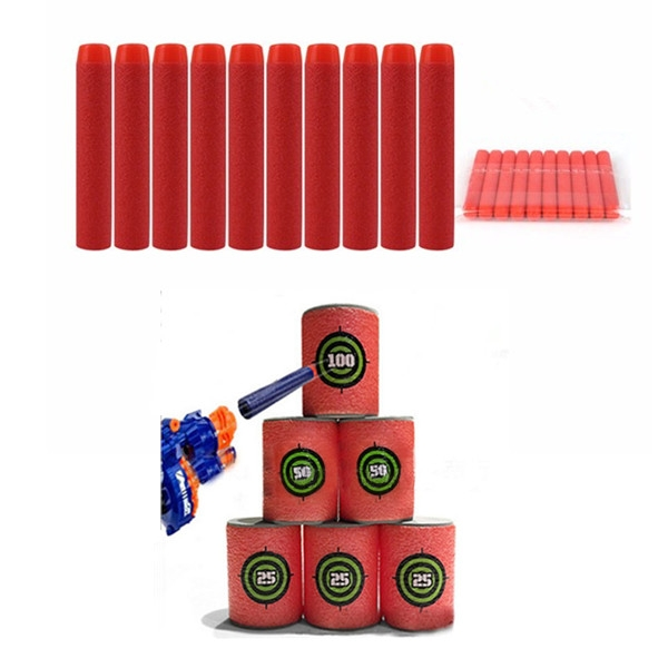 100PCS Red Refill Bullets Dart For Nerf N-strike Elite Rampage Retaliator Series Blasters
