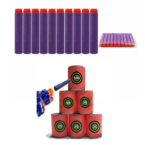 100PCS Purple Refill Bullets Dart For Nerf N-strike Elite Rampage Retaliator Series