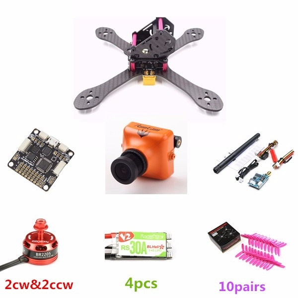 BG195 195mm Frame Kit Combo w/ F3 6 DOF Racerstar BR2205 Motor RS30A ESC Runcam Swift Camera