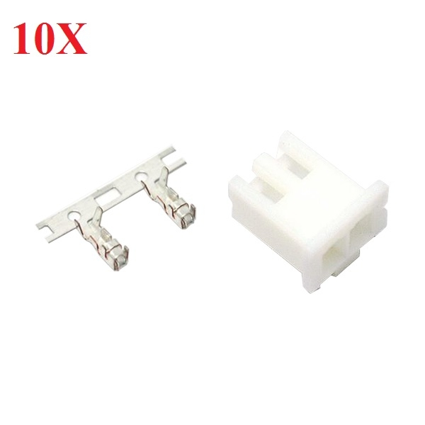 10X DIY Micro 1.25mm 2-Pin Female Connector Plug With Crimp