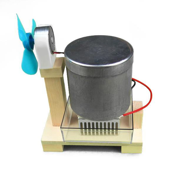 Thermoelectric Hot water Fan Teaching Experiment Tool Kid Physic Children DIY Education Equipment