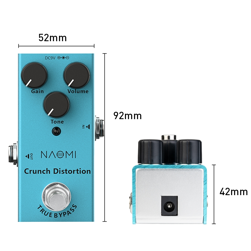 NAOMI Effect Pedal Aluminum Alloy Casing W/Stoving Varnish Finish DC 9V Pedal Acoustic Electric Guitar