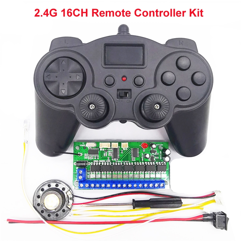 16CH 2.4G 12V Remote Control Receiver Set for Model Excavator DIY Toy Car Robot