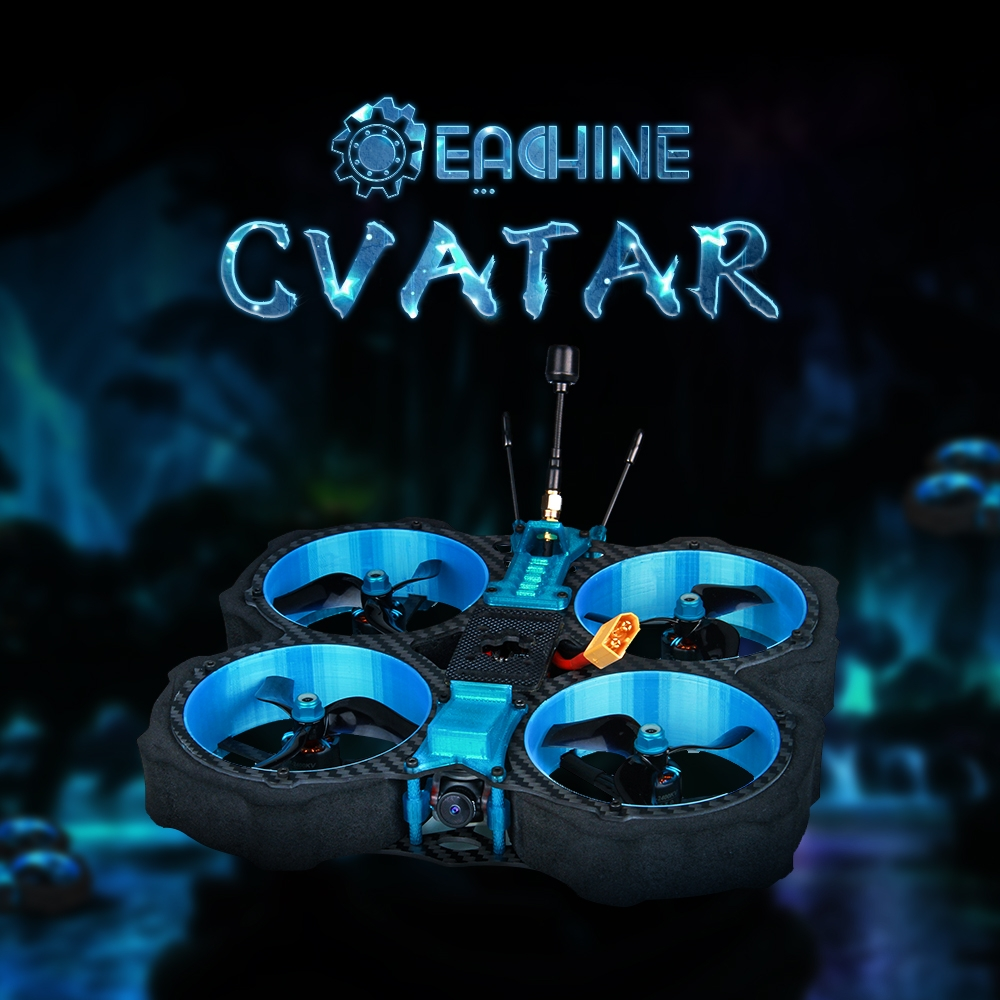 Eachine Cvatar 142mm 6S 3 Inch Cinewhoop Duct FPV Racing Drone PNP/BNF Analog Version RunCam Nano2 Cam F722 DJI FC 1507 2400KV 35A ESC