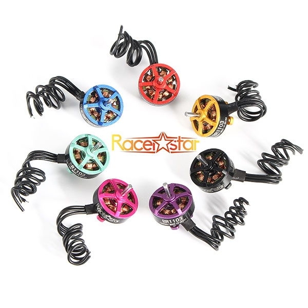 4X Racerstar Racing Edition 1103 BR1103 10000KV 1-2S Brushless Motor Gold For 50 80 100 Multirotor