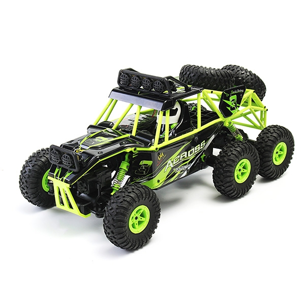 Wltoys 18628 1/18 2.4G 6WD Brushed Rc Car Rock Crawler with Front LED Light RTR Toys