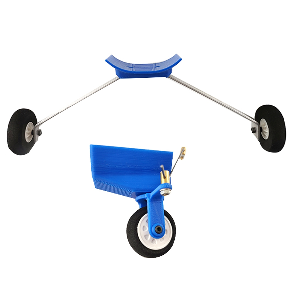 Steerable Tricycle Front Landing Gear w/Tail Wheel for Sky
